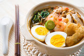 Singapore prawn mee — Stock Photo
