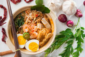 Singaporean prawn mee — Stock Photo