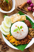 Nasi lemak kukus — Stock Photo