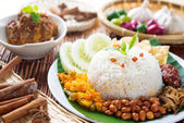 Malaysia food nasi lemak — Stock Photo