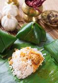 Nasi lemak plat malais — Photo