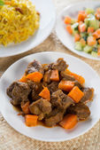 Arabic rice and mutton — Stock Photo