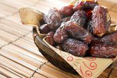 Dried date palm fruits — 图库照片