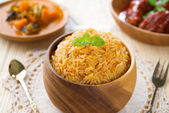 Indian meal biryani rice — Stock Photo
