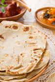 Chapati or Flat bread — Stock Photo