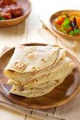 Indian Chapati or chapatti — Stock Photo