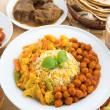 Indian dining meal — Stock Photo
