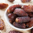 Stock Photo: Dried date palm fruits