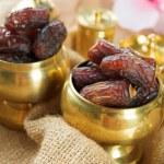 Ramadan food dates fruit. — Stock Photo