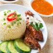 Singapore chicken rice.  — Stock Photo