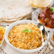 Indian meal biryani rice — Stock Photo #28088135