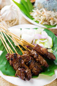 Satay or sate — Stock Photo