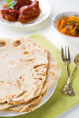 Indian food chapatti — Stock fotografie