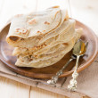 Plain chapatti roti — Stock Photo