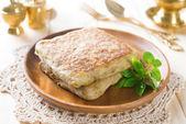 Mutabbaq Arabian Stuffed Bread — Stock Photo
