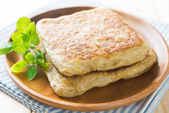 Arab food Martabak or murtabak, also mutabbaq — Stock Photo