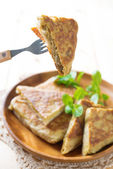 Malaysian food murtabak — Stock Photo
