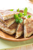 Stuffed pancake murtabak — Stock Photo