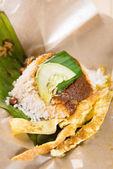 A pack of nasi lemak — Stock Photo
