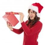 Öppna julklapp — Stockfoto