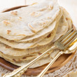 Stock Photo: Indivegetarifood plain chapatti roti