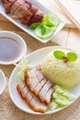 Siu Yuk or crispy roasted belly pork — Stock Photo