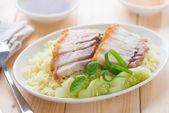 Siu Yuk rice — Stock Photo