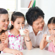 Happy multi generations Asian family at home — Stock Photo #29764581