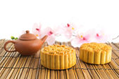 Traditional brown mooncakes — Stok fotoğraf