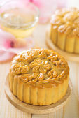 Assorted fruits nuts mooncakes — Stock Photo
