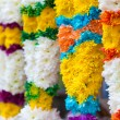 Stock Photo: Indicolorful flower garlands