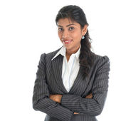 African American businesswoman in business suit — Stock Photo