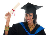 Indian university student graduation — Stok fotoğraf