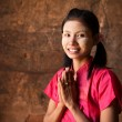 Myanmar girl welcoming — Stock Photo #30967231