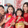 Stock Photo: Beautiful multi generations Asian family