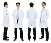 Asyalı erkek güzellik terapisti şevval özçelik güzellik üniformalı — Stok fotoğraf