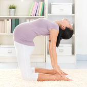 Yoga meditating — Stock Photo