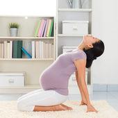 Yoga woman meditating at home — Stock Photo