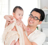 Daddy and baby girl — Stock Photo