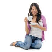 Asiatische frauen tee trinken — Stockfoto