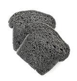 Black charcoal bread slices — Stock Photo