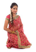 Indian girl in sari clothes — Stock Photo