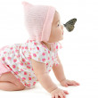 Butterfly on nose — Stock Photo #33697099