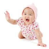Happy Asian baby girl — Stock Photo