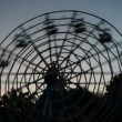 Man-powered ferris wheel — Stock Video