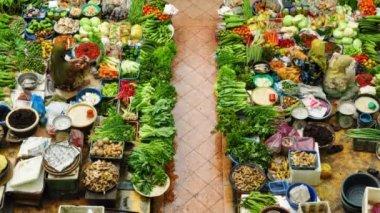 伝統的なバザール市場 siti khadijah コタ ・ バル — ストックビデオ