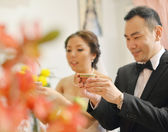Traditional Chinese wedding tea ceremony — Stock Photo