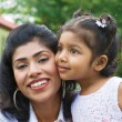 Portrait of loving mother and daughter — Stock Photo