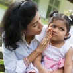 Upset Indian girl — Stock Photo