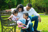Happy Indian family candid — Stock Photo